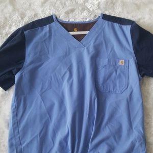 Hospital uniform shirt short sleeve L man